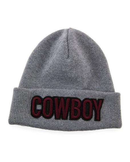 Dsquared2 Men's Cowboy Patch Wool Beanie Hat