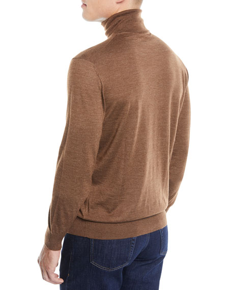 Men's Textured Cashmere-Silk Turtleneck Sweater