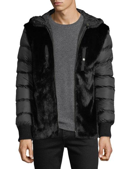 Men's Safari Jacket with Mink Lining