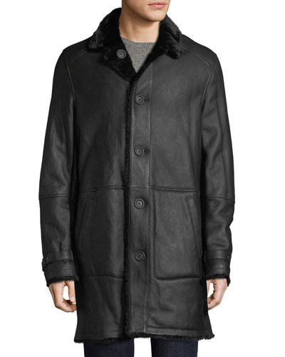 f11137473a11 Men s Lamb Leather Shearling Fur-Lined Coat Quick Look. Yves Salomon