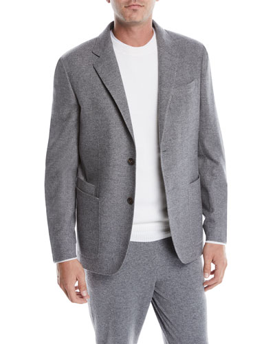 Men's Wool-Cashmere Blazer Jacket