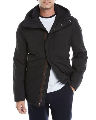 Men's Hooded Wool Car Coat