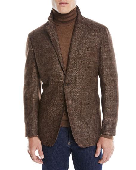Ermenegildo Zegna Men's Textured Wool-Silk Blazer