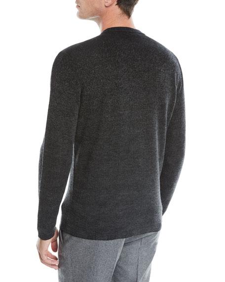 Men's Ombre Check Cashmere Sweater