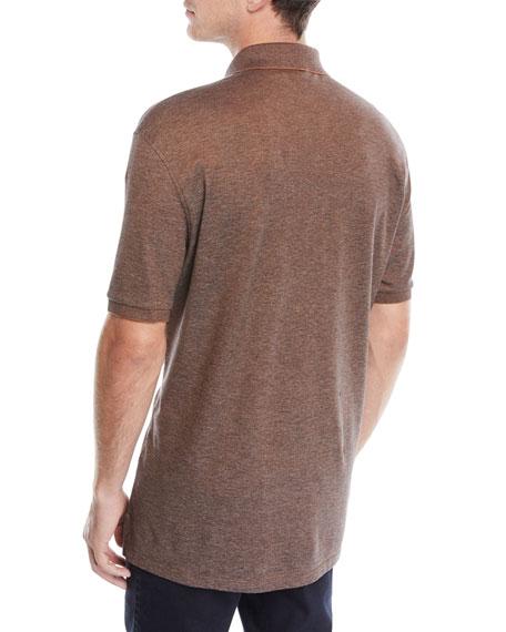 e09bf45b Ermenegildo Zegna Men's Vicuna Logo Short-Sleeve Polo Shirt