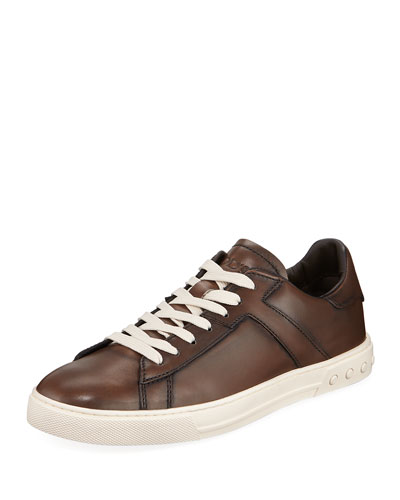 Men's Sportivo Burnished Leather Sneakers