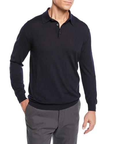 Men's Cashmere Polo Sweater