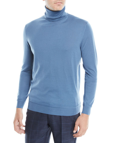 Ermenegildo Zegna Men's Wool-Cashmere Turtleneck Sweater