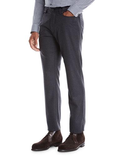 Men's 5-Pocket Wool Flannel Pants