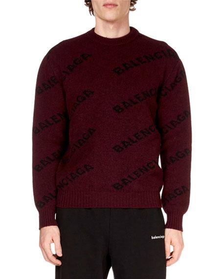 Men's Logo Intarsia Sweater