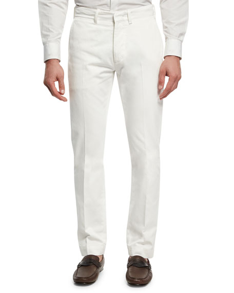 TOM FORD Classic Chino Pants, White