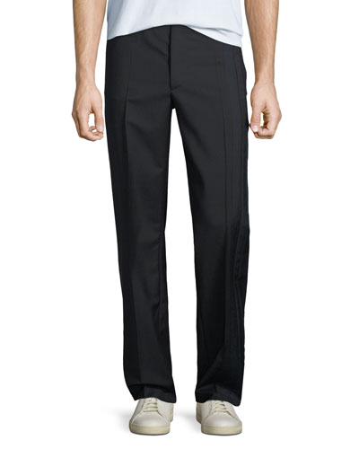 Men's Wool-Blend Track Trousers