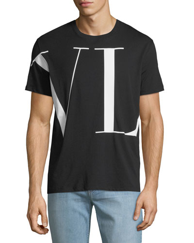 Men's VLTN  Logo-Print T-Shirt