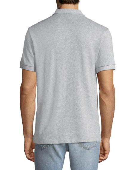 Men's Hartford Polo Shirt with Check Detail, Gray