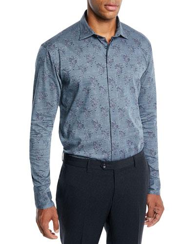 Men's Paisley Woven Sport Shirt