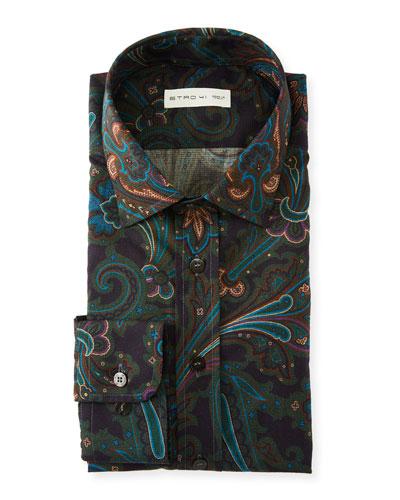 Men's Paisley Swirl Sport Shirt