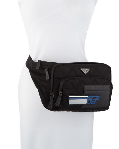 6e6e52770b00 Prada Tessuto Impunturato Fanny Pack Bag