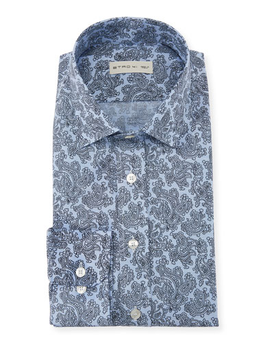 Men's Stencil Paisley Dress Shirt