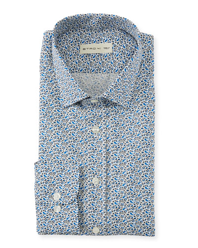 Men's Mini Paisley Sport Shirt
