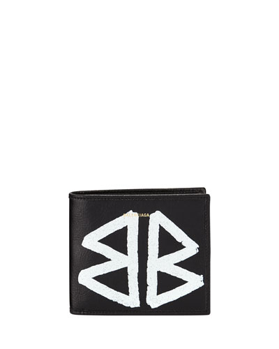 Men's Bazar Graffiti Bi-Fold Leather Wallet