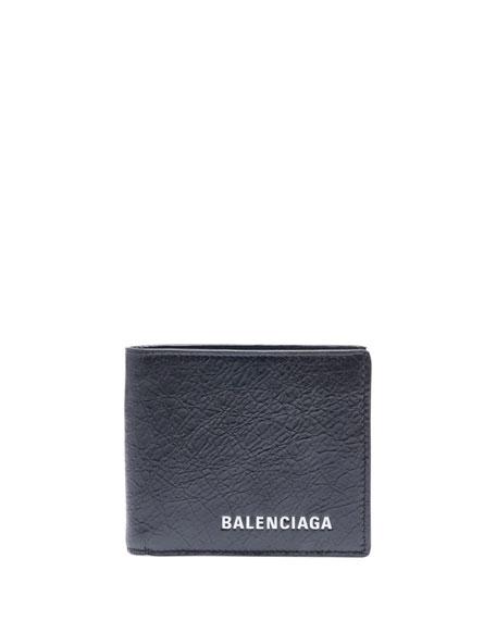 Balenciaga Men's Explorer Square Bi-Fold Wallet