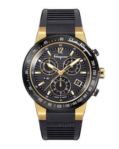 Men's F-80 Chronograph Watch  Black/Golden