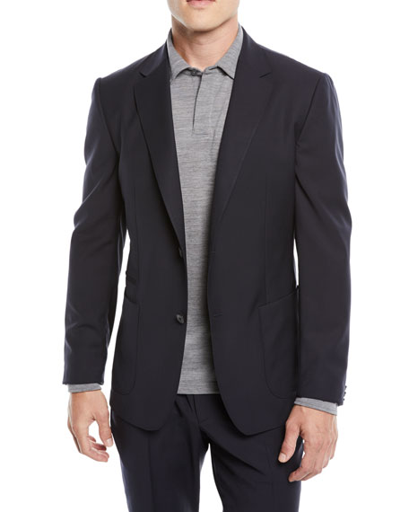 Men'S Turati Wash-And-Go Two-Piece Wool Suit, Navy