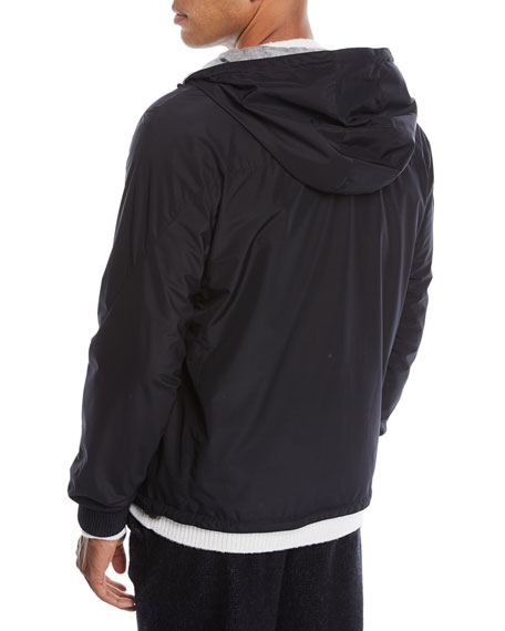 Men's Hooded Reversible Zip-Front Jacket