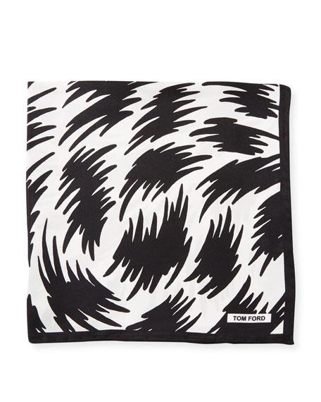 TOM FORD Graphic-Print Silk Pocket Square