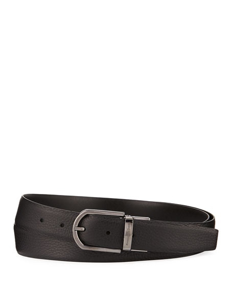 Ermenegildo Zegna Men's Reversible Calf Leather Belt