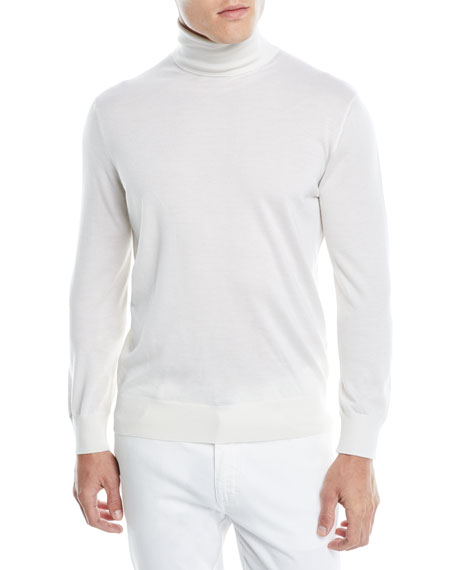 Men's Cashmere-Silk Turtleneck Sweater