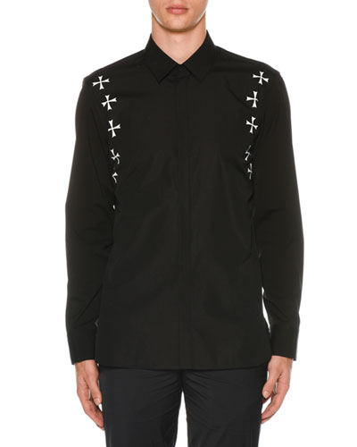 Men's Military Star Poplin Shirt