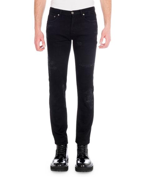Men's Destroyed Denim Skinny Jeans