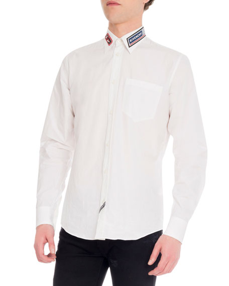 Shirt Givenchy Cotton w Men's Patches Dress Rubber nk80OXwP