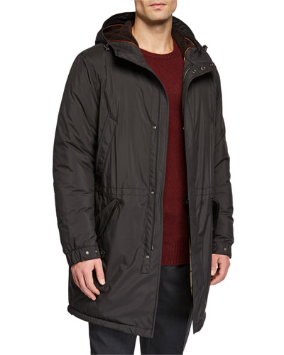 Men's Bluewood Cashmere-Lined Parka Coat