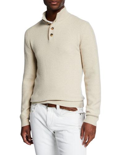 Men's Mezzocollo Cashmere Shirt