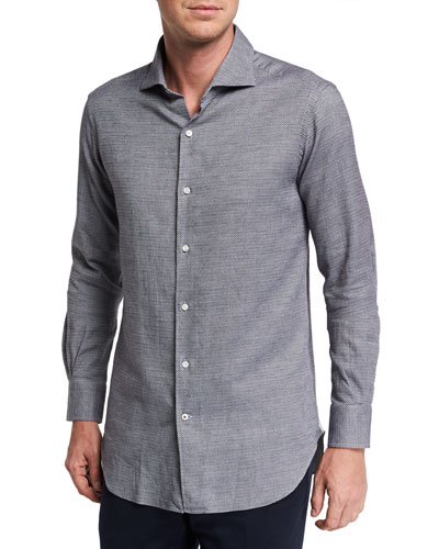 Men's New Alain Textured Dress Shirt