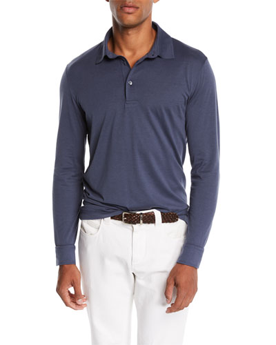 Men's Cose Long-Sleeve Jersey Polo Shirt