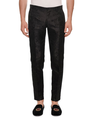 Men's Jacquard Slim Trousers