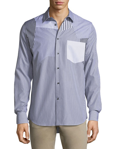 Patched Cotton Sport Shirt