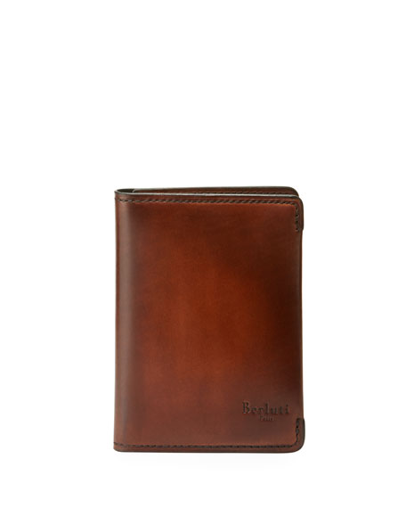 BERLUTI MEN'S IDEAL ESSENCE LEATHER CARD CASE