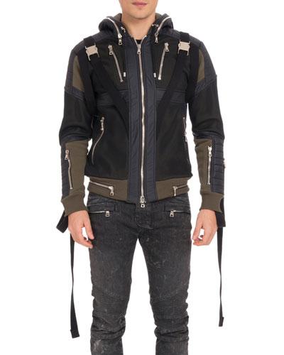 Men's Matelasse Zip Hoodie Jacket