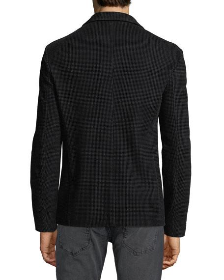 82582cdad1 Men's Soft Flocked Velvet Two-Button Blazer Jacket