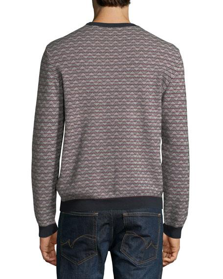 Men's Geometric-Knit Jacquard Sweater