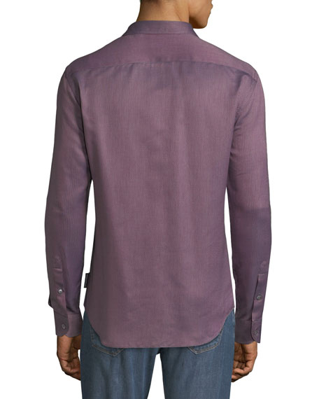 Men's Micro-Pattern Sport Shirt