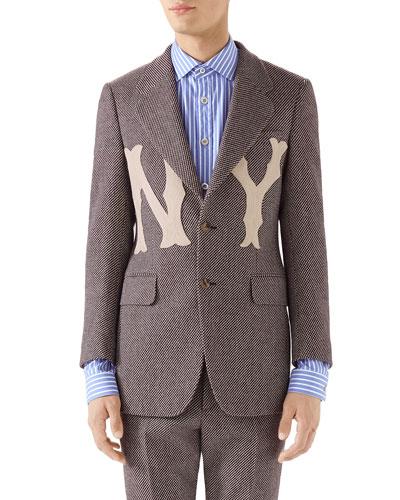 Men's New York Yankees MLB Tweed Jacket
