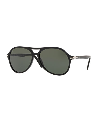 Men's PO3194S Propionate Aviator Sunglasses - Solid Lenses
