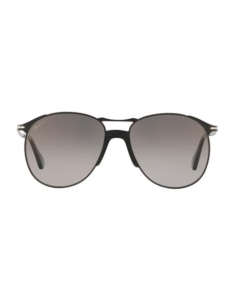 f831f6ba67 Persol Men s PO2649S Metal Aviator Sunglasses - Polarized Lenses