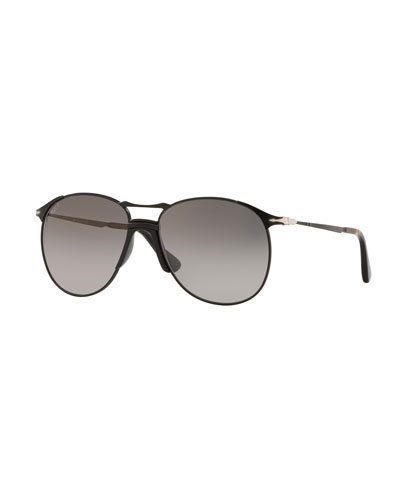 Men's PO2649S Metal Aviator Sunglasses - Polarized Lenses