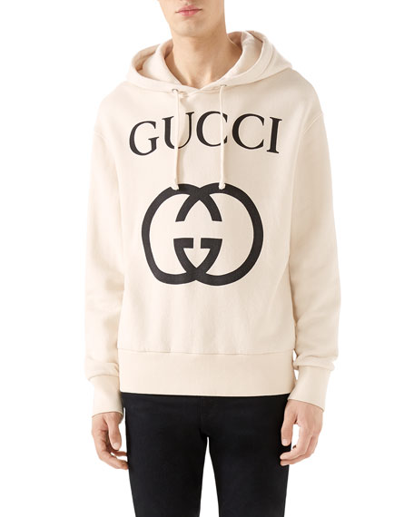 44cefda1d Gucci Men's GG Logo Hoodie Sweatshirt
